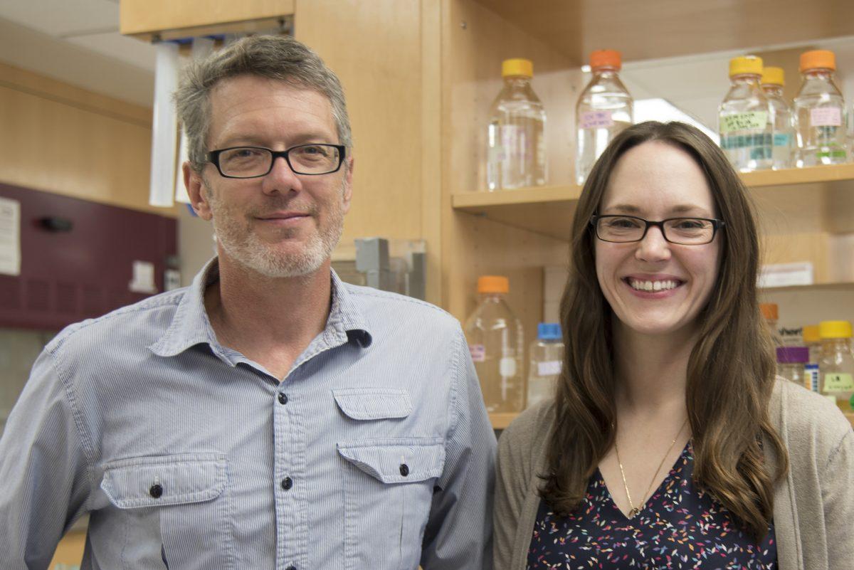 Professor Sam Butcher and biophysics grad student Allison Didychuk